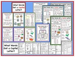 Capital Letter Anchor Chart What Words Get A Capital Letter Anchor Charts