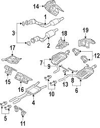 parts com® audi a4 quattro exhaust components oem parts 2006 audi a4 quattro avant v6 3 2 liter gas exhaust components