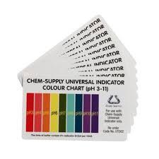 Universal Indicator Chart Universal Indicator Colour Charts 10 Pkt