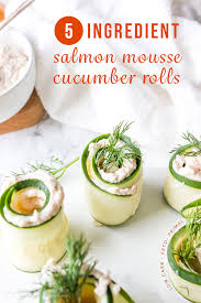 5 ing salmon mousse cuber rolls