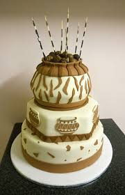 Cake Desserts Red Black Swazi Traditional Wedding Cake At Shonga
