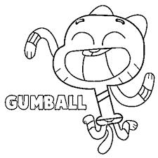 Immagini Gumball Da Colorare Playingwithfirekitchencom