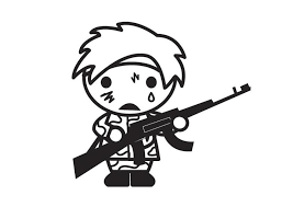 In addition, the kid is carried away and does not bother his mother while she does her business. Coloring Page Child Soldier Free Printable Coloring Pages Img 28930
