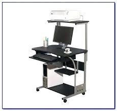 under desk rolling cart printer with stand mobile adjule laptop