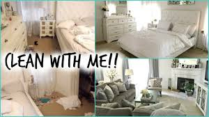 Living Room And Bedroom Clean With Me Bedroom Living Room Youtube