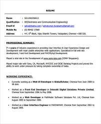 Front End Developer Resume Awesome 021 24 Web Developer Resume Templates PDF DOC Free Premium Templates