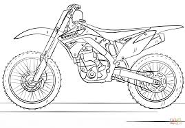 Small Picture Kawasaki Motocross Bike coloring page Free Printable Coloring Pages