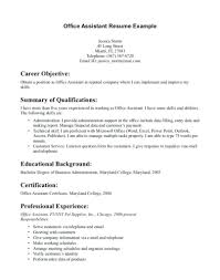 Administrative Assistant Objective Resume Samples Medical Office Administration Resume Example Isla