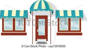front door drawing. Store Front Door And Windows - Csp13519030 Drawing