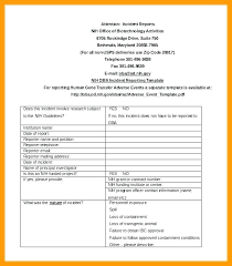 Student Incident Report In Incident Report Sample Cycling