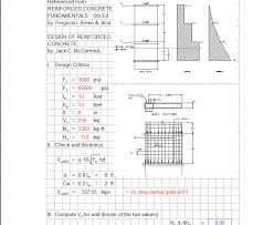 shear wall design spreadsheet