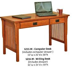 mission style solid oak office computer. Craftsman Style Desk Computer Mission Solid Oak Office A
