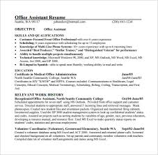Free Medical Assistant Resume Template Cool 48 Medical Assistant Resume Templates DOC Excel PDF Free