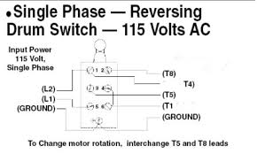 reversing drum switch wiring diagram reversing reversing single phase ac motor wiring diagram the wiring on reversing drum switch wiring diagram