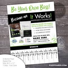 Flyer With Phone Number Tabs Black Green Itworks Recruiting Flyer With Tear Off Tabs Digital File