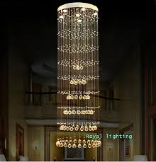 impressive long hanging chandelier h15 3m luxury long large spiral stairway crystal pendant lamps