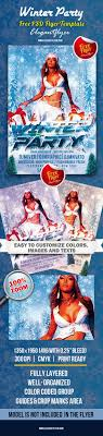 winter party club and party flyer psd template by winter party club and party flyer psd template