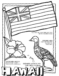 Small Picture Hawaii State Symbol Coloring Page by Crayola Print or color
