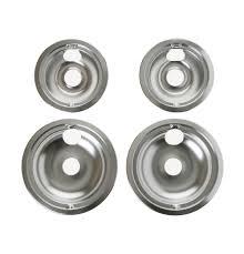 ge chrome electric range drip bowls 4 pack model ge68cc