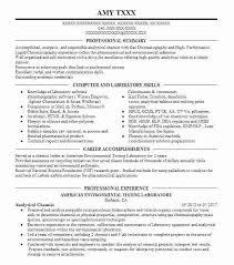 laboratory skills resume analytical chemist environmental testing laboratory  medical lab technician skills resume