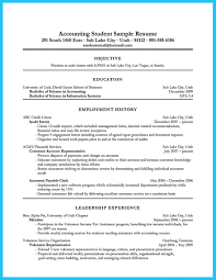 accounting student resume how to write student resume