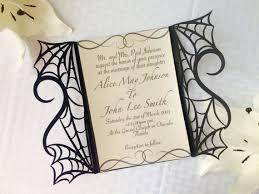 Halloween Wedding Invitations Gothic Spider Web Halloween Wedding Invitation Gatefold Diy Kit