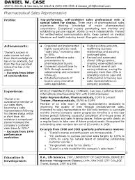Template Resume Templates Pharmaceutical Sales Free