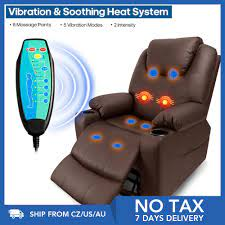 Furgle güç asansör Recliner sandalye suni deri elektrikli masaj isı ve  titreşim yaşlılar için oturma odası salonu masaj koltuğu Living Room Sofas