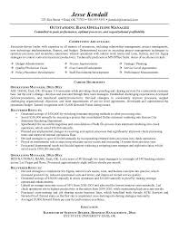 operations manager cv example bank operations manager resume free sample