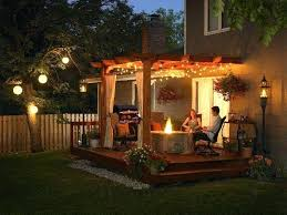 outdoor pergola lighting. Small Backyard Pergola Outdoor Lighting Ideas Plans