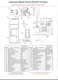 eb15c coleman electric furnace parts hvacpartstore within wiring coleman mach thermostat problem solving at Coleman Wiring Diagram