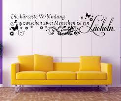 Wandtattoo Spruch Blumenranke Lächeln Liebe Sprüche Aufkleber Zitate