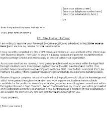 second example of a cover letter cover letter free examples