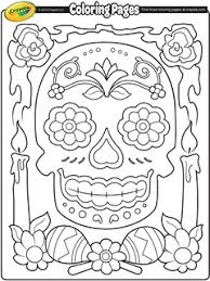 Day of the dead skull coloring pages at skull coloring pages on. Dia De Los Muertos Mexico Day Of The Dead Free Coloring Pages Crayola Com