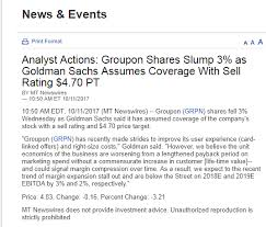 Groupon Stock Quote So Much For Goldman Sachs' Groupon Oct 100 Downgrade Groupon Inc 10