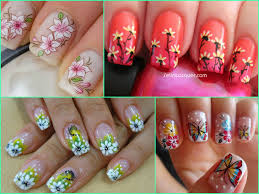 Flower Nail Art Designs Hibiscus Flowers Nails Designs Simple Nail ...