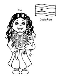 Small Picture costa rica dresses coloring pages Kids Around The World Coloring