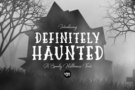 Haunted moon by misti's fonts. Definitely Haunted Font By Dixietypeco Creative Fabrica