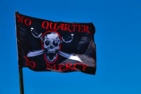 Quarter Cards No Quarter No Mercy Greeting Card