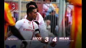 Lecce-Milan 3-4