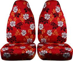 red hawaiian car seat covers