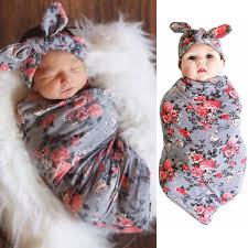 Swaddling And Receiving Blankets Cool Newborn Swaddle Blanket Headband With Bow Set Baby Receiving