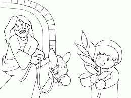 Palm Sunday Bible Coloring Page Get Coloring Pages