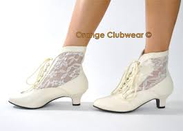 victorian style ivory lace granny wild west old fashioned wedding Wedding Granny Boots pleaser victorian style ivory lace granny wild west old fashioned wedding boots ebay granny boots for wedding