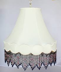 victorian gallery bell swag lamp blue pink lapis beaded fringe 14 20 w