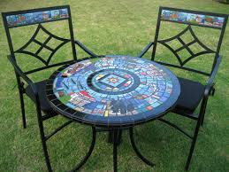 great mosaic bistro table with fun furniture murals etc mosaic bistro table b69