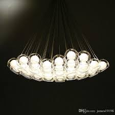 clear glass bubble ball modern pendant lamp chandelier hanging ceiling light new for dinning room bedroom study home decor ceiling lights modern copper