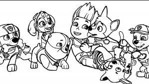 Cuccioli Paw Patrol E Ryder Disegni Da Colorare Gratis Migliori