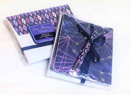 purple note cards vera bradley note cards and pen in celestial lilac pink purple