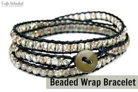 beaded diy wrap bracelet